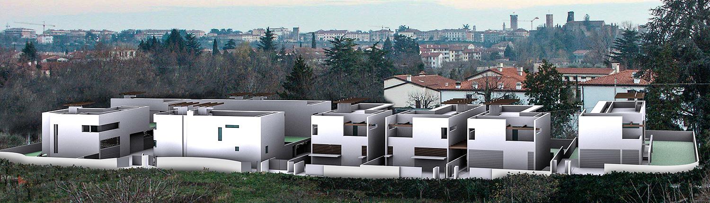 Edifici residenziali lungo il fiume - arch. Mario Tessarollo