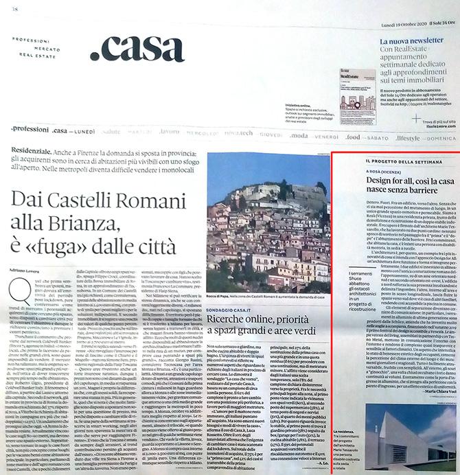News - Il Sole 24 Ore - arch. Mario Tessarollo