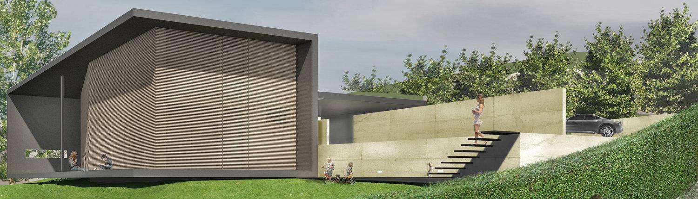 Casa in collina, arch. Mario Tessarollo