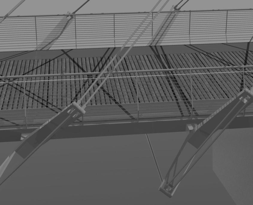Due ponti pedonali sul Tevere